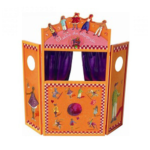 Houten poppenkast Donk-Toyshop