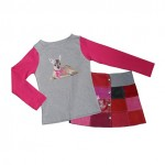 Janey Kidswear rokje en shirt met applicatie