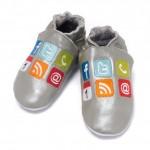 Baby Dutch iShoe grijs babyslofjes