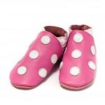 Baby Dutch stippen roze babyslofjes