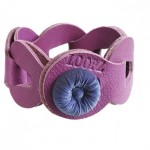Loopz armband Lady purple flower button