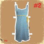 Halsoverkop - jurk blauw