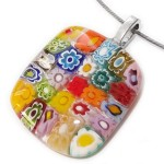 Millefiori glashanger multicolor - Ultimate Webshops