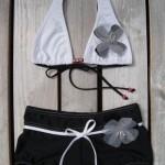 Alamano bikini zwart wit