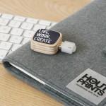 USB-STICK Houtprints - Dots Lifestyle