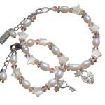 zilveren moeder dochter sieradenset Sparkling Star 'Key to my Heart'