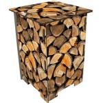 Gestapeld hout krukje - Plukietsmoois
