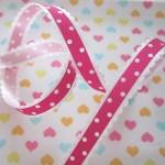 Lint roze met witte stip - Lintjeswinkel