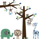 Muursticker boom en tak jungle