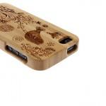 iPhone5 hoesje van hout detail Hippetelefoonhoesjes.nl