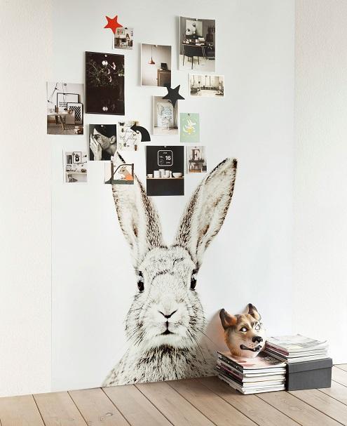 Groovy Magnets magneet behang met print konijn - Persbureau Pers ...