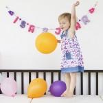 Verjaardagsslinger KiddyColors paars fuchsia