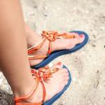 Bandajanas in het zand