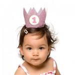 1 jaar kroontjes roze meisje - Hieppp
