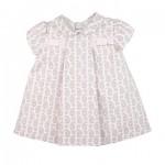 Babyjurk roze jurkje strikjes - Belito Baby Boutique