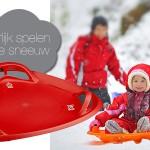 In de sneeuw met de slee - Winter-Wereld