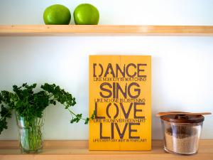 Tekst op canvas - Dance Sing Love Live - tekstopcanvas.nl