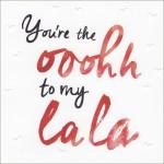 Valentijnskaart - You're the ooohh to my lala - Muller wenskaarten