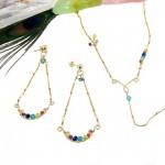 Be a rainbow sieradenset - oorbellen en ketting uit de collectie Fine Originals