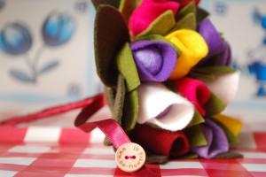 Tulp boeket bruiloft - Be-flowerd
