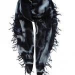 Sjaal Casmy tiedye black white - SjaalMania