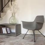 Hauteville armstoel beton hoog - La Boutique Blanche