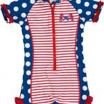Playshoes - UV zwempak met korte mouwen meisjes - Zeepaardje - UV-Fashions