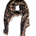 Scarfz luipaard print sjaal extra lang warm bruin