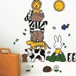 60 decoratiestickers van nijntje op een groot stickervel - Dick Bruna