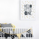 Geboorteposter Hello Little One - printcandy.nl
