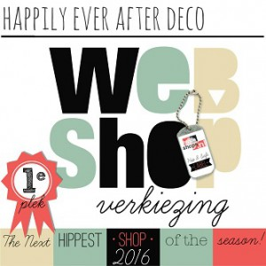 Happily Ever After Deco - webshopverkiezing 2016 - HippeShops.nl
