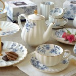 Servies van Easy Life - Blue Peonies - highteaboetiek.nl