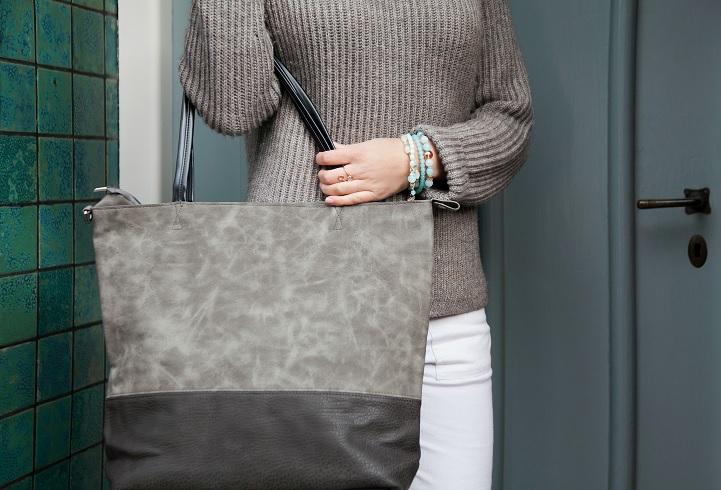 suedine grey jozemiek schoudertas grijs