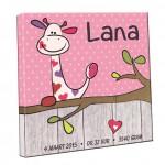 Geboortekaartje op canvas - beebieshop.nl