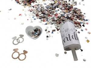 Push up confetti wij gaan trouwen - melonday.nl