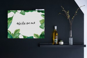 Whiteboard Green Leaves sfeer - dutchdesignbrand.com