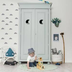 Kinderkast Camilla Collection Loulou Moon mint 1 - kinderkamerinstijl.nl
