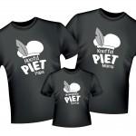 Shirt set hoofd piet gezin - beebieshop.nl