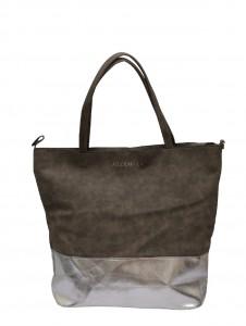 Tas Suèdine Metallic Bag Grey - jozemiek