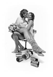 Wedding SOXS - set sokken voor vrouw en vrouw met MRS MRS label