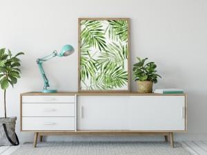 Poster - Palmbladeren Palmleaves - studiopapierenco.nl
