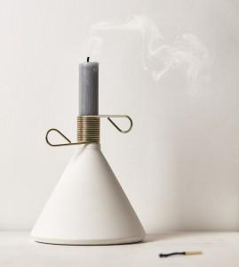 Conic kandelaar wit sfeer - puikdesign.nl
