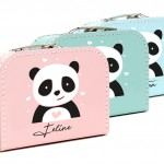 Kinderkoffers met panda print - beebieshop.nl