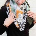 Scarfz lange dames sjaal funky pattern - scarfz.nl