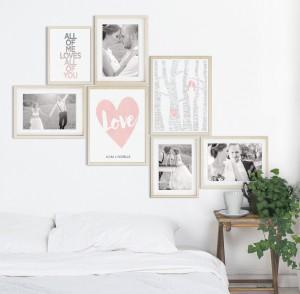 Collage met Valentijns Posters van Printcandy