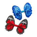 Vlinders Rood Blauw - lintjeswinkel-xl.nl