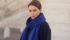 Travel Wrap sjaal Cosy Midnight Blue - sjaalmania.nl