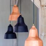 Designlamp Lloyd - bruin en zwart leer - puikdesign.nl