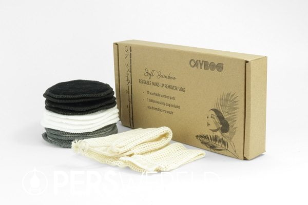 Wasbare bamboe make-up pads