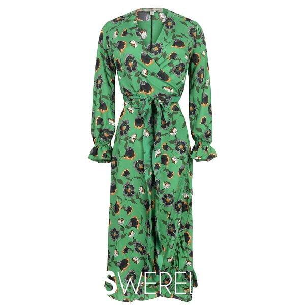 Babette Dress Green Flower